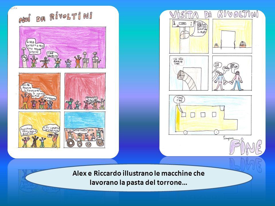 Alex e Riccardo illustrano le macchine che lavorano la pasta del torrone…
