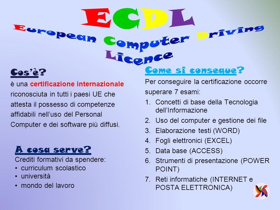 Olimpiadi della Matematica Rally Matematico Transalpino Laboratorio di Scienze Laboratorio di Fisica Laboratorio di Informatica: - certificazione ECDLcertificazione ECDL