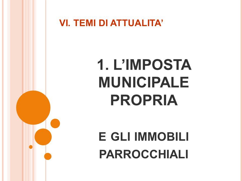 1. LIMPOSTA MUNICIPALE PROPRIA E GLI IMMOBILI PARROCCHIALI VI. TEMI DI ATTUALITA