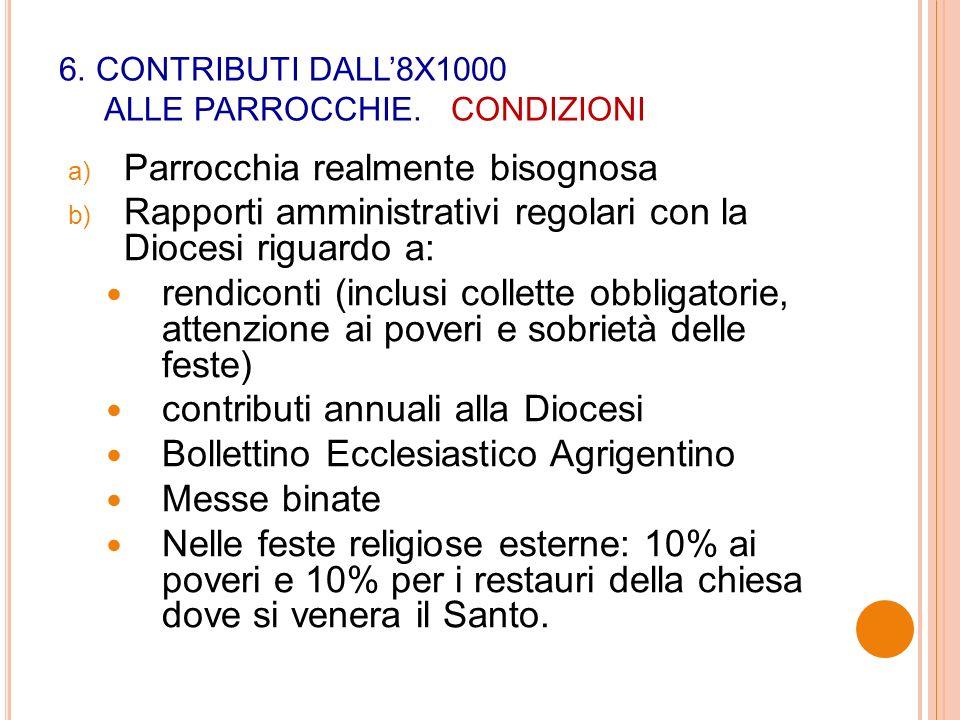 6. CONTRIBUTI DALL8X1000 ALLE PARROCCHIE.