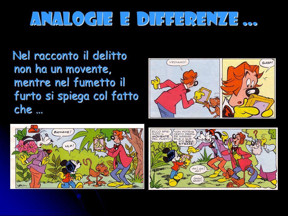 ANALOGIE E DIFFERENZE … Nel racconto e nel fumetto compare il cavo del parafulmine.