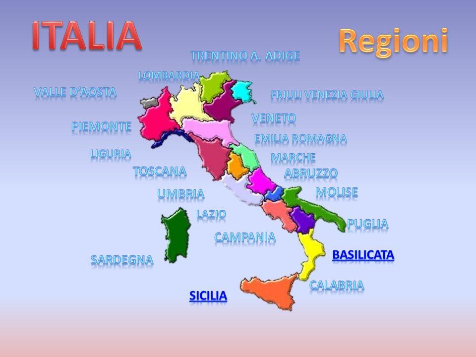 REGIONE BASILICATA Lo stemma deriva da uno scudo sannitico di color argento con quattro fasce situate al centro che rappresentano i fiumi principali: Bradano, Basento, Agri e Sinni