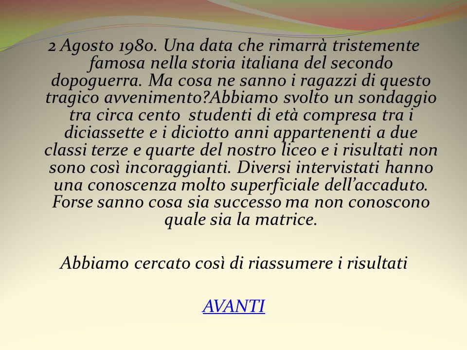 2 Agosto 1980. Una data che rimarrà tristemente famosa nella storia italiana del secondo dopoguerra. Ma cosa ne sanno i ragazzi di questo tragico avve
