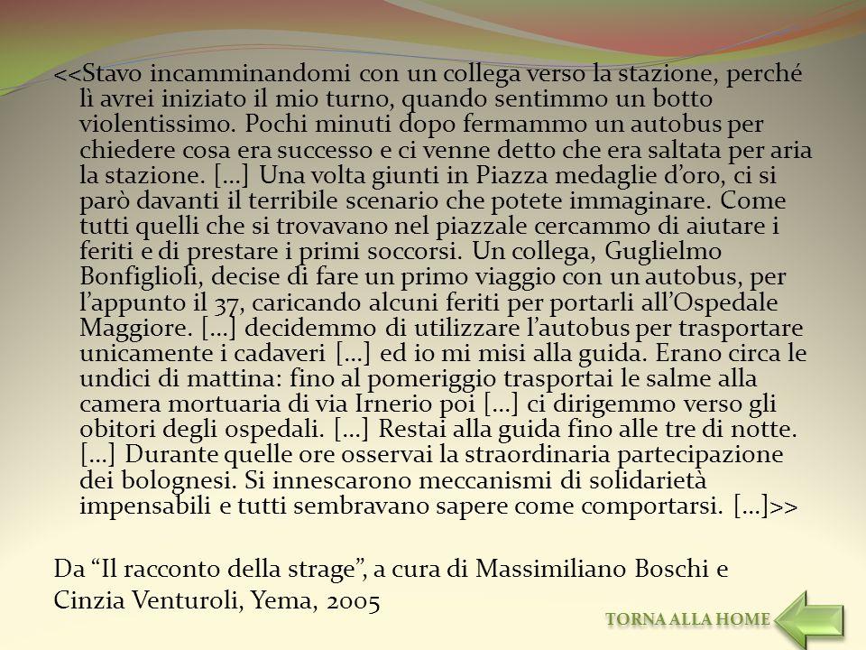 > Da Il racconto della strage, a cura di Massimiliano Boschi e Cinzia Venturoli, Yema, 2005 TORNA ALLA HOME