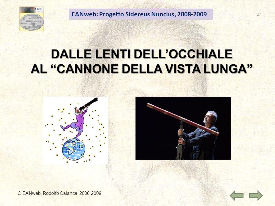 27 DALLE LENTI DELLOCCHIALE AL CANNONE DELLA VISTA LUNGA EANweb: Progetto Sidereus Nuncius, 2008-2009 © EANweb, Rodolfo Calanca, 2008-2009
