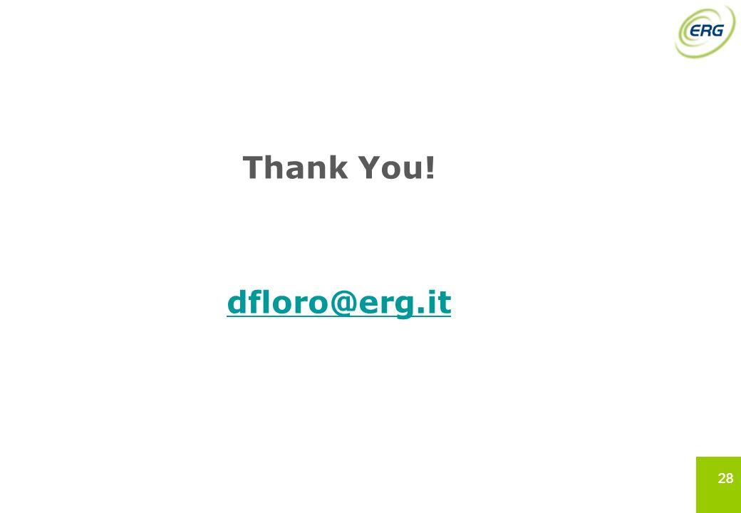 28 Thank You! dfloro@erg.it