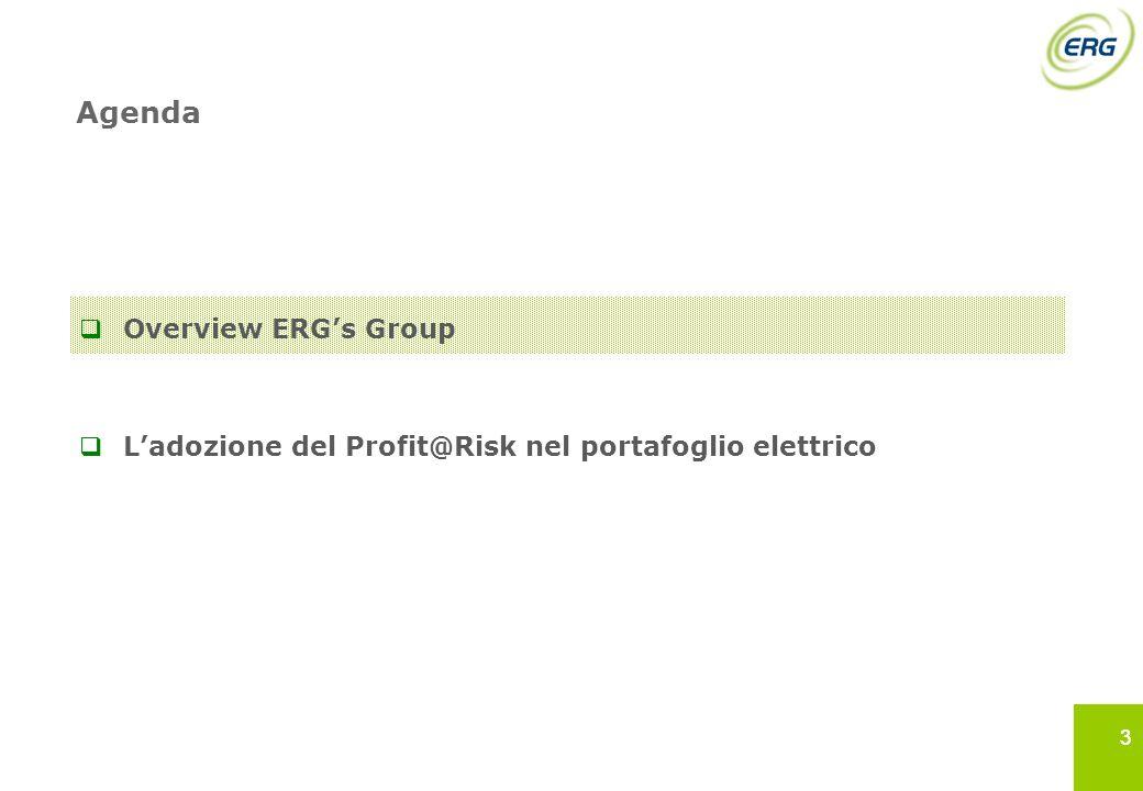 33 Agenda Overview ERGs Group Ladozione del Profit@Risk nel portafoglio elettrico