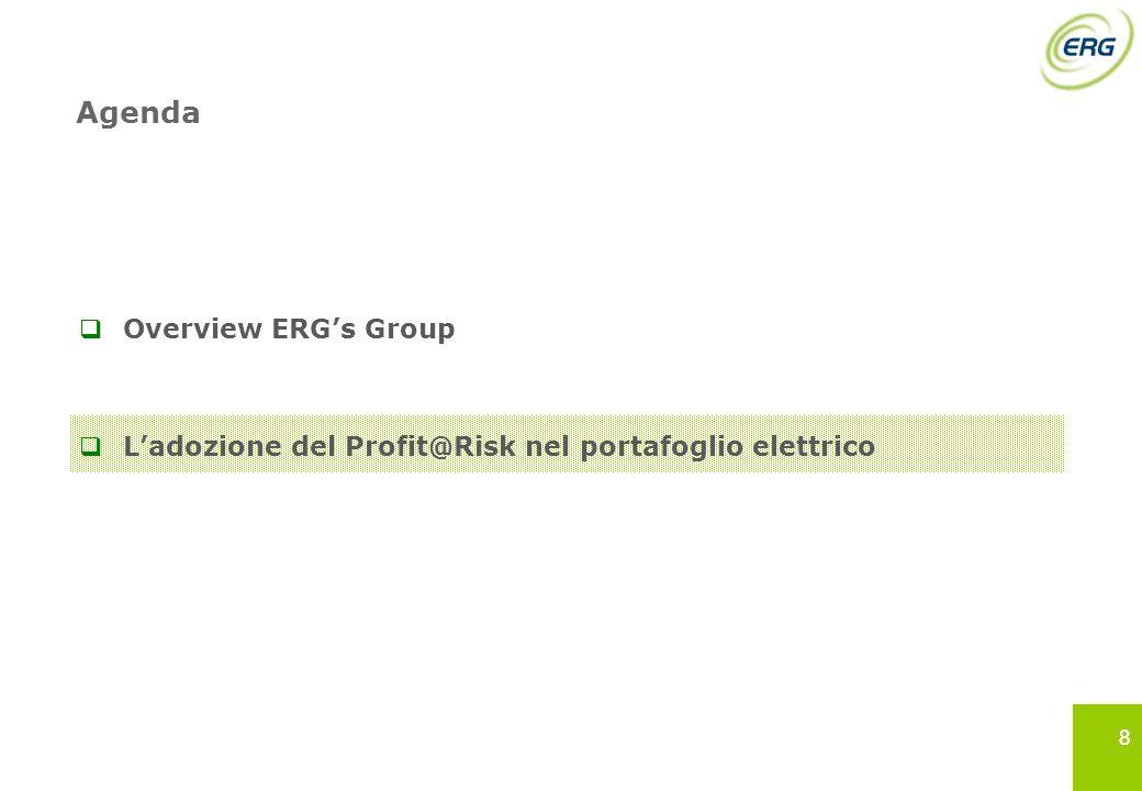 88 Agenda Overview ERGs Group Ladozione del Profit@Risk nel portafoglio elettrico