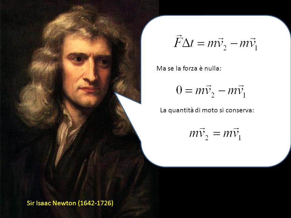 Sir Isaac Newton (1642-1726) However, laccelerazione è una variazione di velocità in un dato intervallo di tempo So, my law diventa: O meglio: a cura
