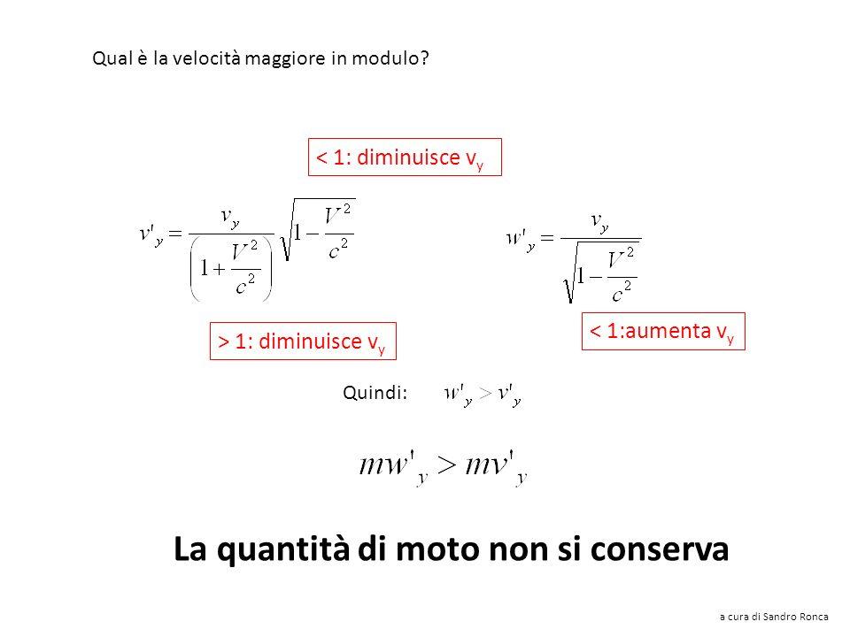 Perché si conservi la quantità di moto anche lungo y le componenti di velocità lungo y dovrebbero essere uguali (ed opposte), ma: Noto che: Qual è la