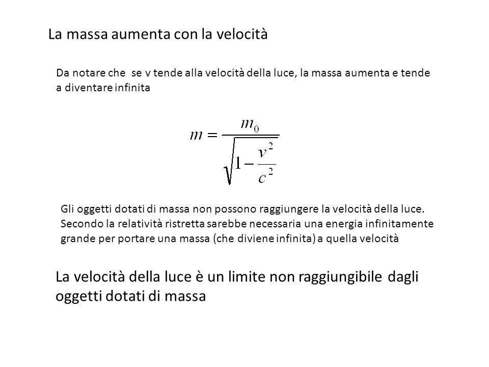 Trascurando i termini di ordine superiore: Moltiplico per c 2 : Energia Totale Energia Cinetica Energia a Riposo a cura di Sandro Ronca