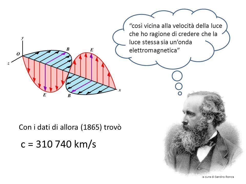 Maxwell trovò una soluzione di queste due equazioni che prevedeva la possibilità di propagazione nello spazio dei campi elettrici e magnetici sotto fo