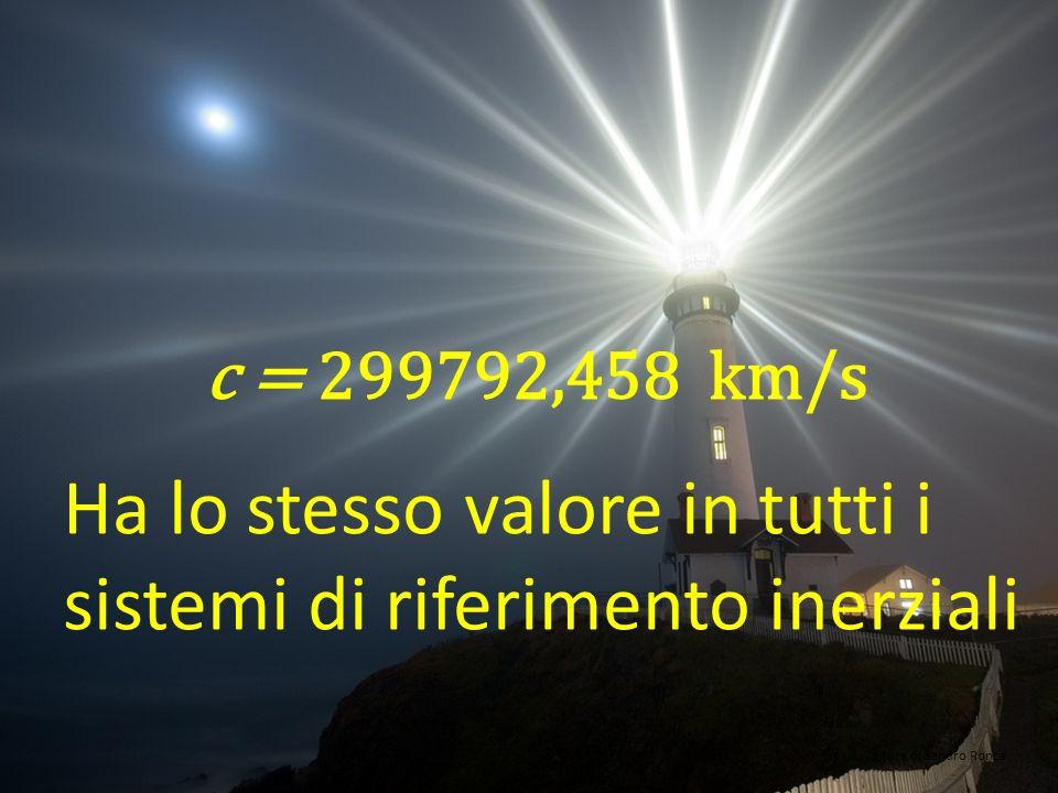 c = 299792,458 km/s Una costante universale a cura di Sandro Ronca