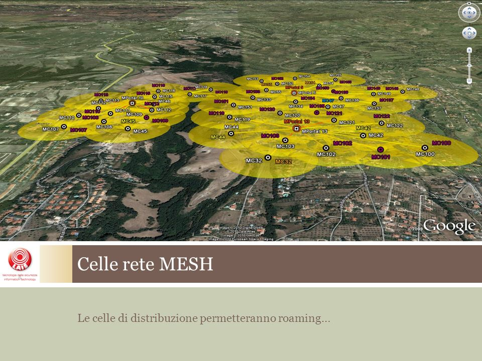 Celle rete MESH Le celle di distribuzione permetteranno roaming…