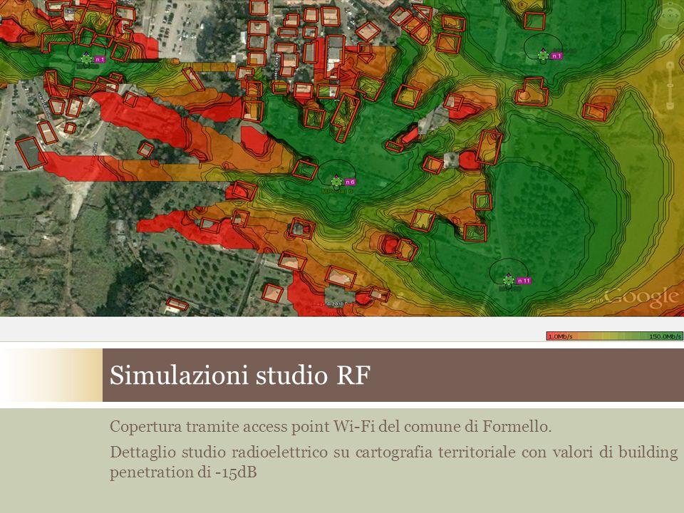 Simulazioni studio RF Copertura tramite access point Wi-Fi del comune di Formello.