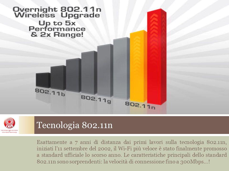 Esattamente a 7 anni di distanza dai primi lavori sulla tecnologia 802.11n, iniziati l 11 settembre del 2002, il Wi-Fi più veloce è stato finalmente promosso a standard ufficiale lo scorso anno.