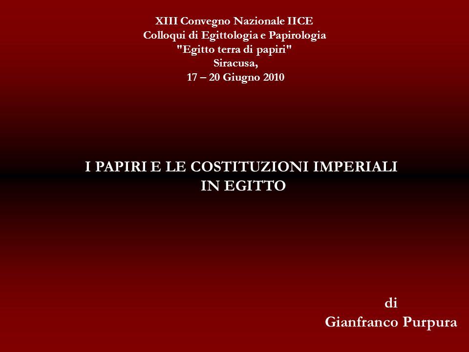XIII Convegno Nazionale IICE Colloqui di Egittologia e Papirologia