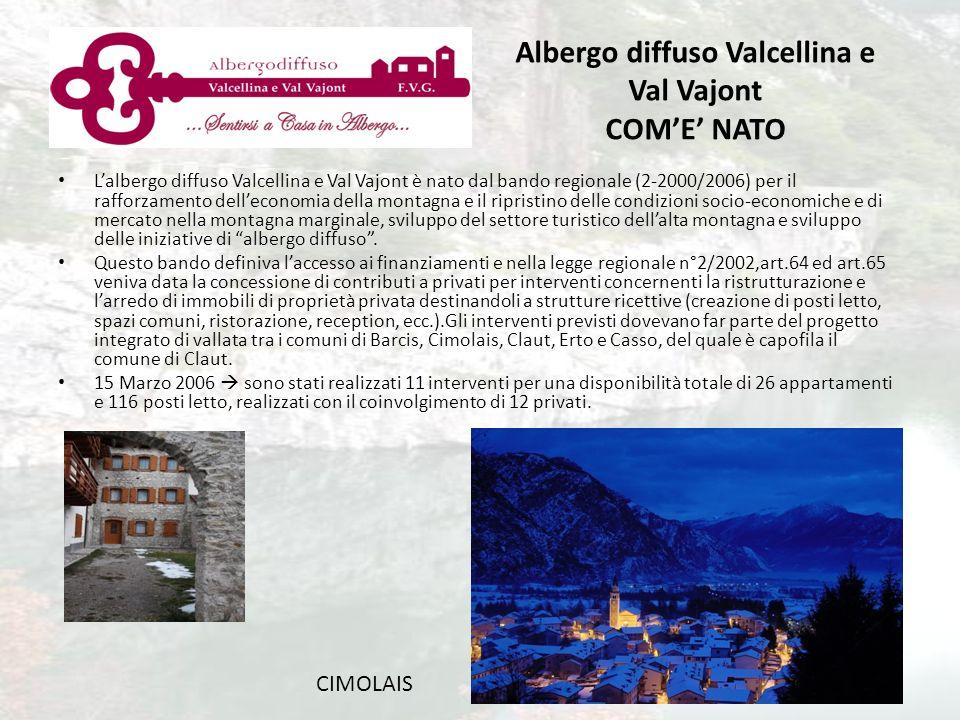 Lalbergo diffuso Valcellina e Val Vajont è nato dal bando regionale (2-2000/2006) per il rafforzamento delleconomia della montagna e il ripristino del