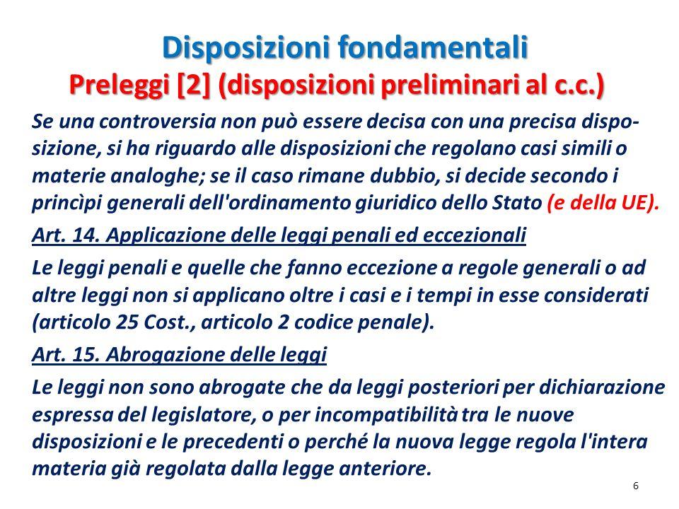 Disposizioni fondamentali Art.1337.