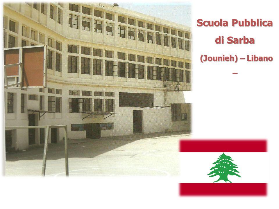 Scuola Pubblica di Sarba (Jounieh) – Libano – (Jounieh) – Libano –