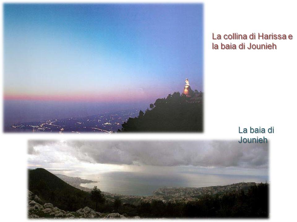 La collina di Harissa e la baia di Jounieh La baia di Jounieh