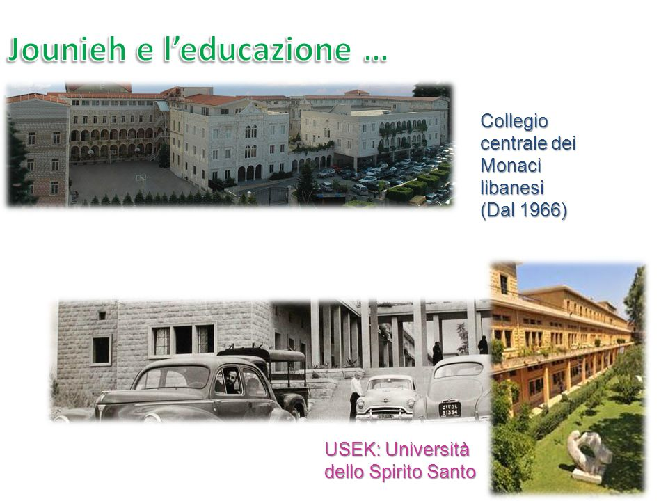 USEK: Università dello Spirito Santo Collegio centrale dei Monaci libanesi (Dal 1966)