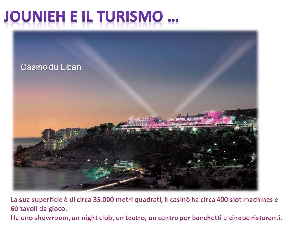Casino du Liban La sua superficie è di circa 35.000 metri quadrati, il casinò ha circa 400 slot machines e 60 tavoli da gioco. Ha uno showroom, un nig