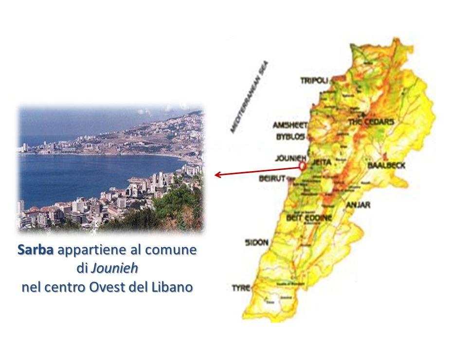 Sarba appartiene al comune di Jounieh nel centro Ovest del Libano