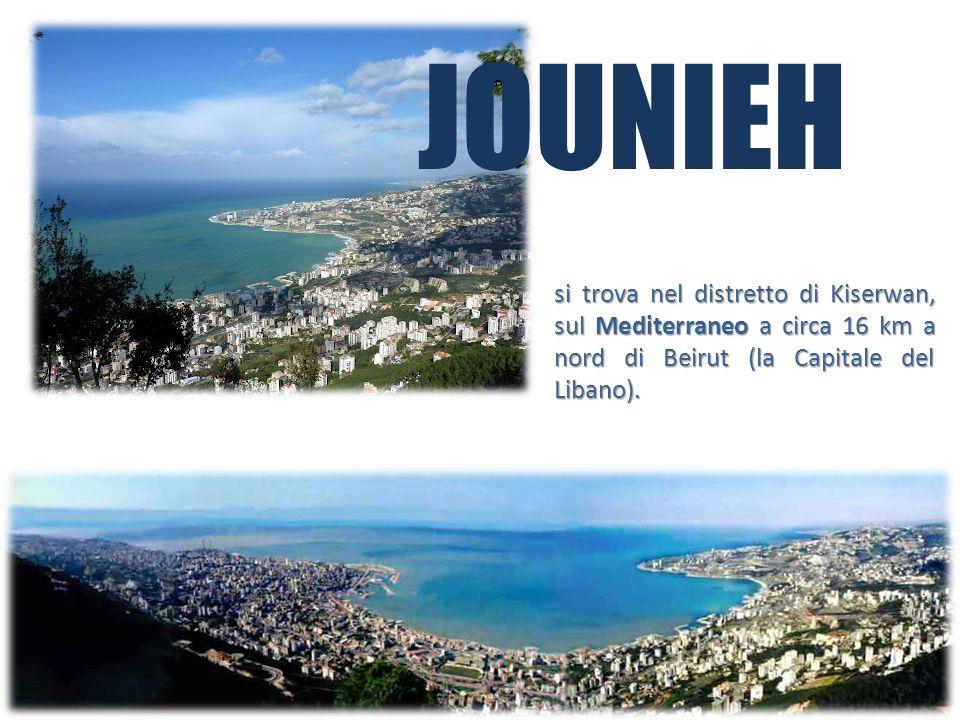 JOUNIEH si trova nel distretto di Kiserwan, sul Mediterraneo a circa 16 km a nord di Beirut (la Capitale del Libano).