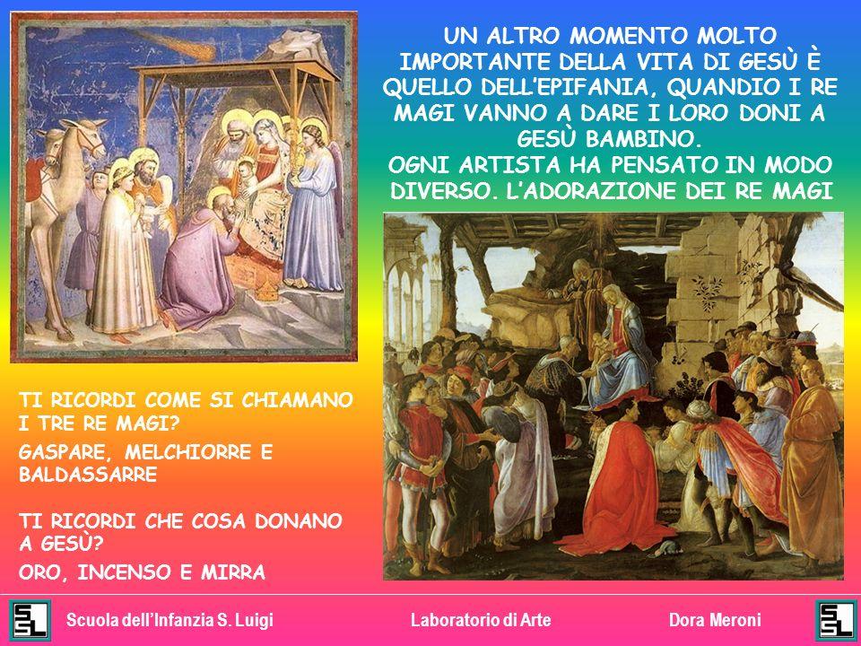 Scuola dellInfanzia S. LuigiLaboratorio di ArteDora Meroni ANCHE IN QUESTO DIPINTO GESÙ BAMBINO ILLUMINA LA MADONNA E GLI ANGIOLETTI GLI ANGIOLETTI SO