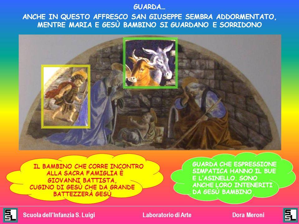 Scuola dellInfanzia S. LuigiLaboratorio di ArteDora Meroni ADESSO CERCHIAMO INSIEME LE COSE NUOVE CHE GIOTTO HA VOLUTO DIPINGERE MARIA GUARDA CON TANT