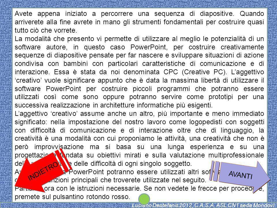 AVANTI Luciano Destefanis 2012, C.A.S.A. ASL CN1 sede Mondovì