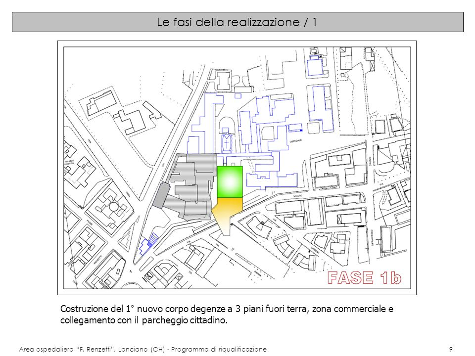 Le fasi della realizzazione / 2 Area ospedaliera F.