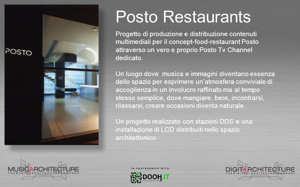 Posto Restaurants Progetto di produzione e distribuzione contenuti multimediali per il concept-food-restaurant Posto attraverso un vero e proprio Post