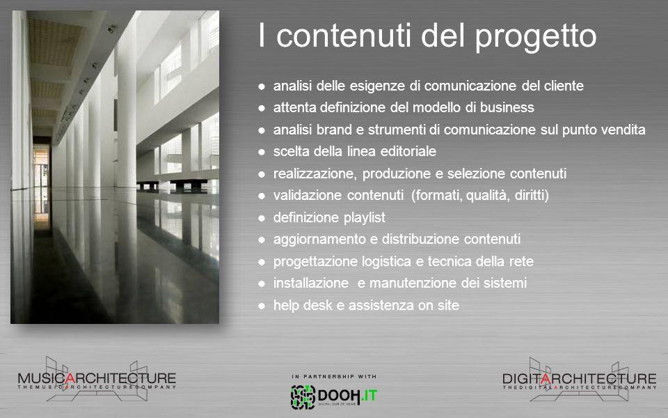 I contenuti del progetto analisi delle esigenze di comunicazione del cliente attenta definizione del modello di business analisi brand e strumenti di