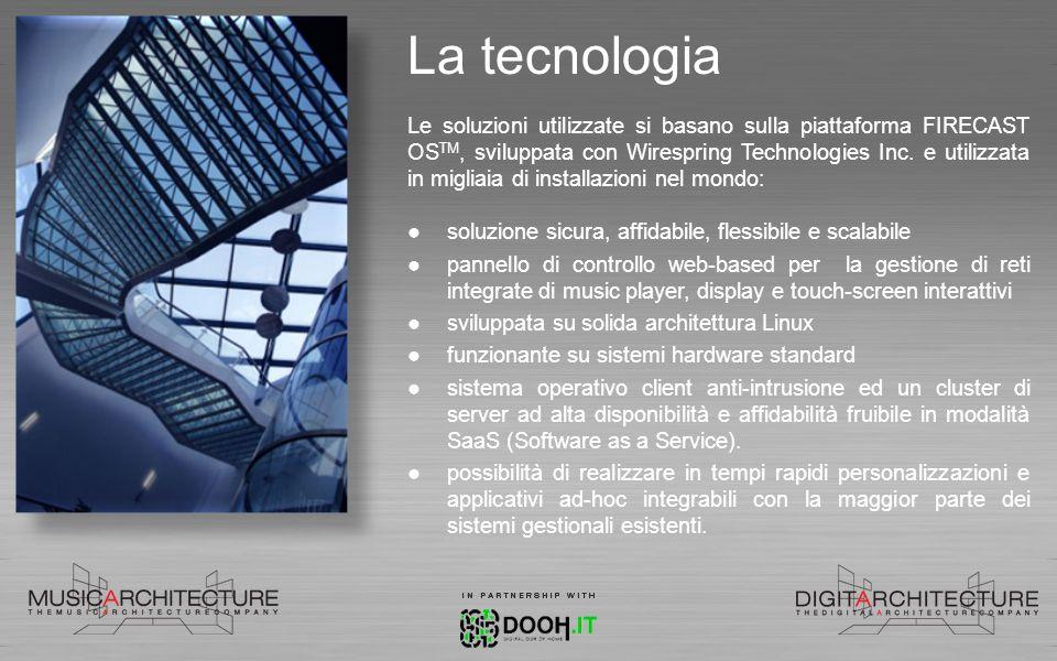 La tecnologia Le soluzioni utilizzate si basano sulla piattaforma FIRECAST OS TM, sviluppata con Wirespring Technologies Inc. e utilizzata in migliaia
