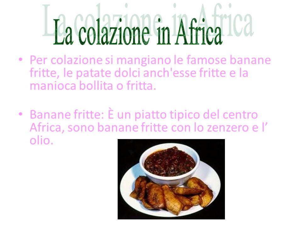 Il cibo africano varia da regione a regione e molta differenza si incontra tra i paesi della fascia sahariana e quelli della foresta tropicale dell'Af