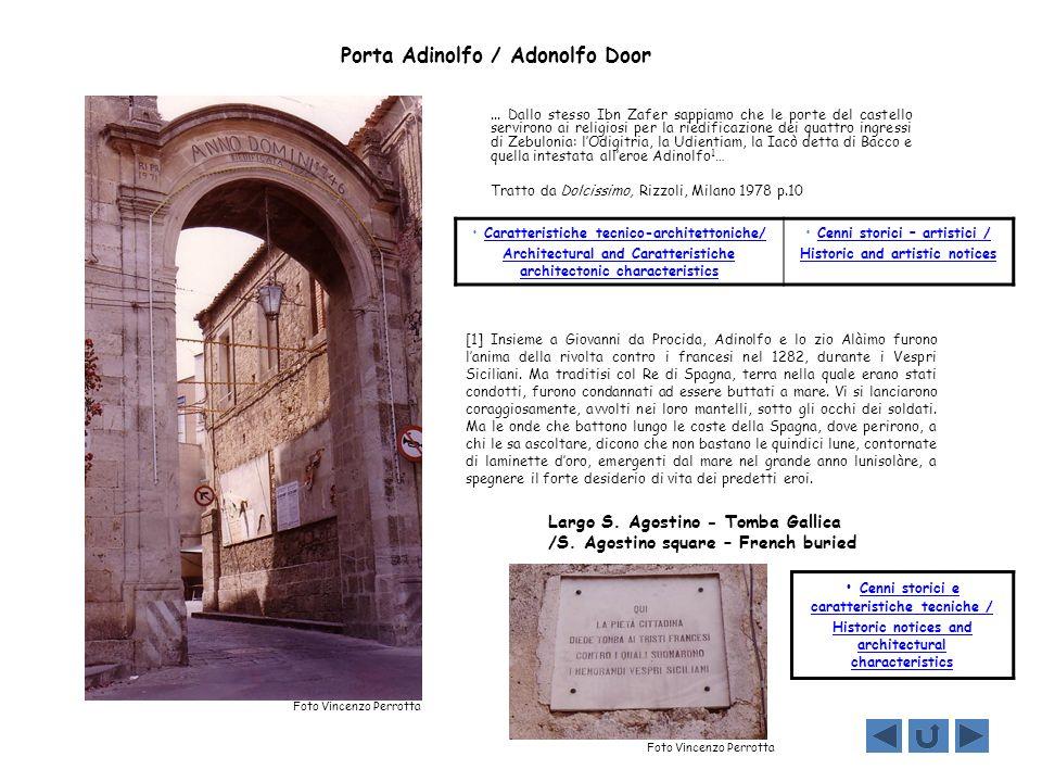 Cenni storico-artistici/ Historic and artistic notices LARGO S.