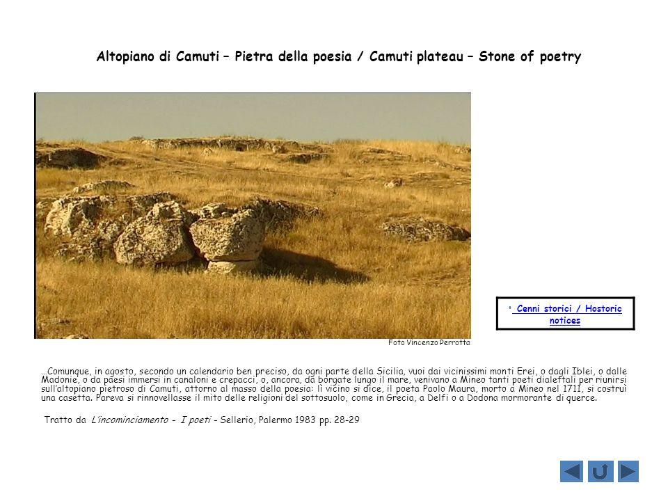 Altopiano di Camuti – Pietra della poesia / Camuti plateau – Stone of poetry …Comunque, in agosto, secondo un calendario ben preciso, da ogni parte de