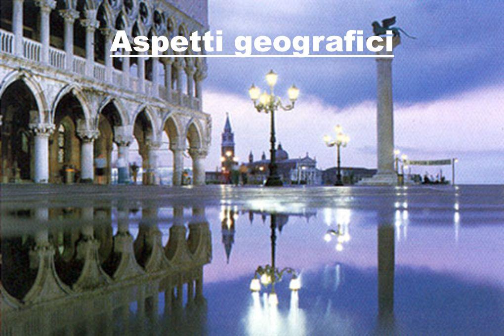 Venezia : città del Veneto Situata al nord della pianura padana ll territorio è totalmente pianeggiante.