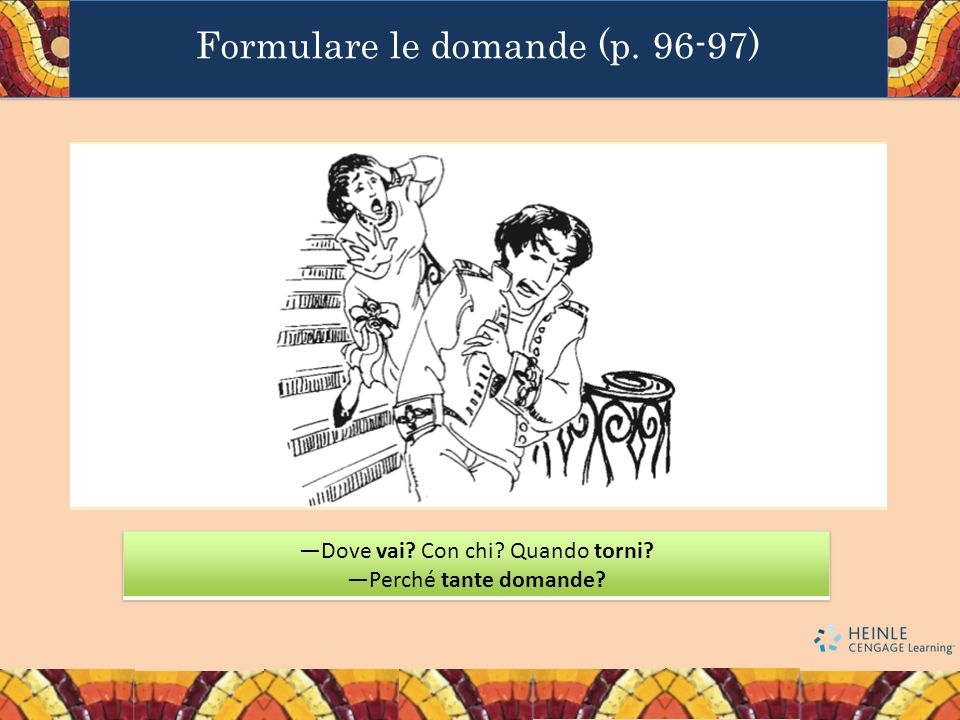 Formulare le domande (p. 96-97)