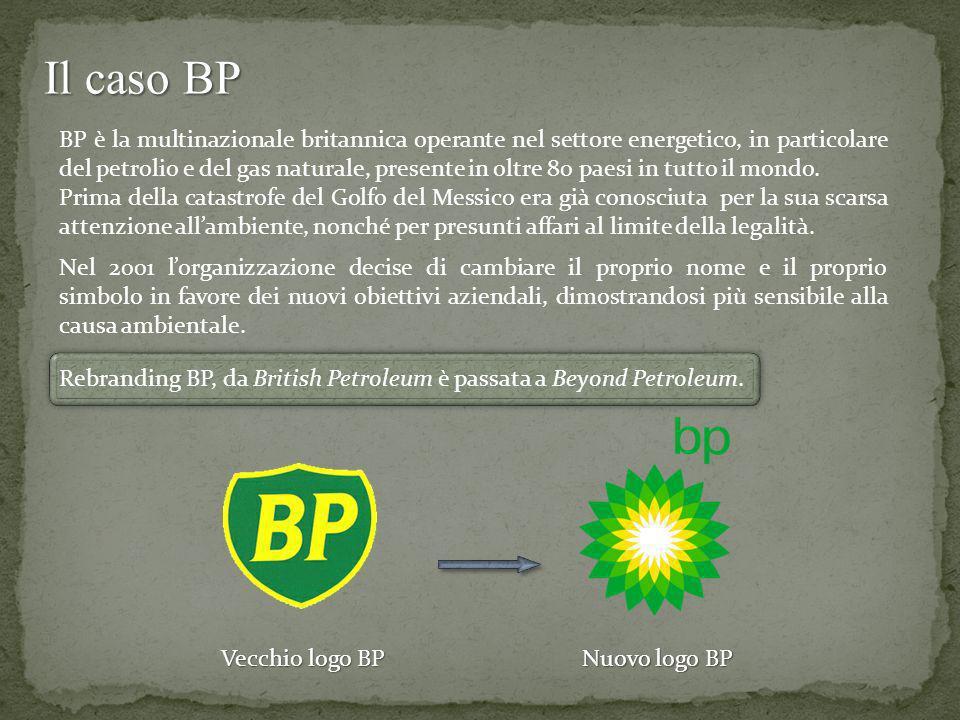 Il caso BP BP è la multinazionale britannica operante nel settore energetico, in particolare del petrolio e del gas naturale, presente in oltre 80 pae