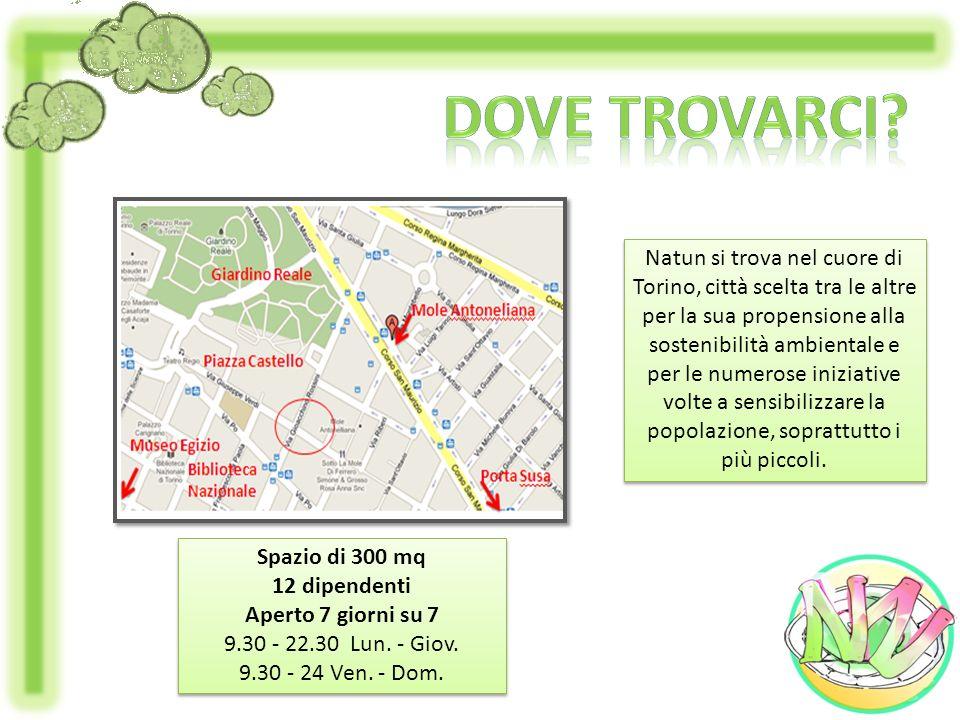 Natun si trova nel cuore di Torino, città scelta tra le altre per la sua propensione alla sostenibilità ambientale e per le numerose iniziative volte