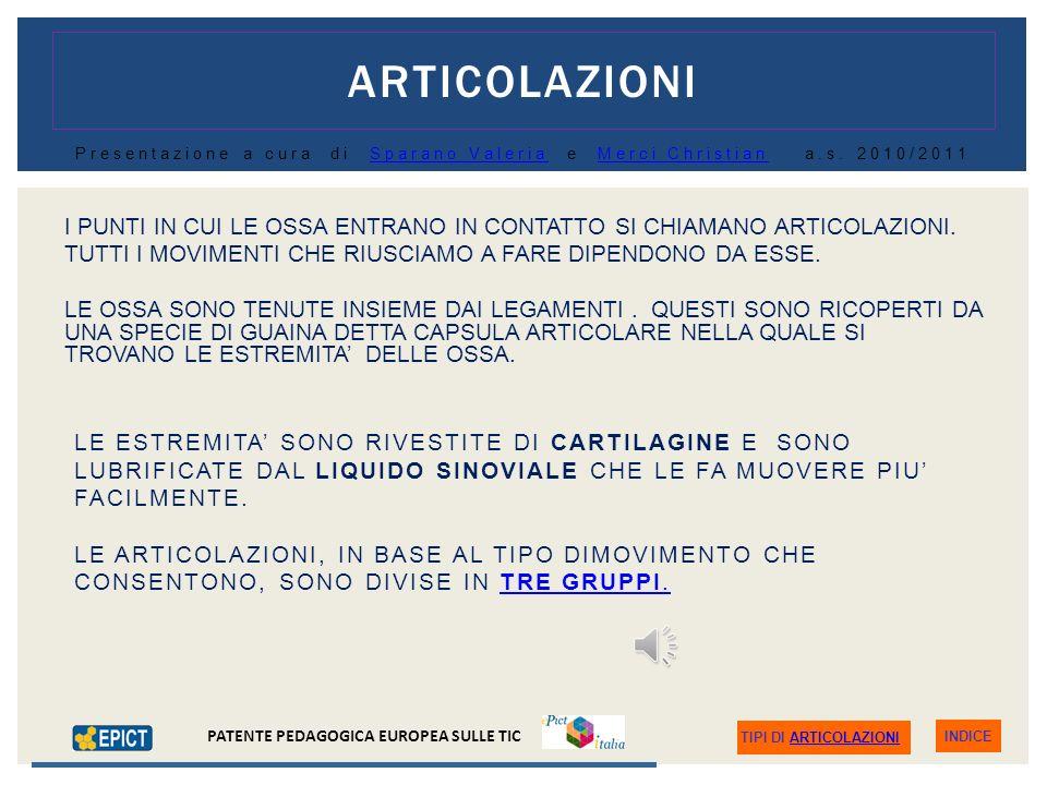 INDICE PATENTE PEDAGOGICA EUROPEA SULLE TIC TIPI DI OSSA (Fonte: http://www.inail.it )http://www.inail.it ) LE OSSA LUNGHE (FEMORE, TIBIA, OMERO, ETC.