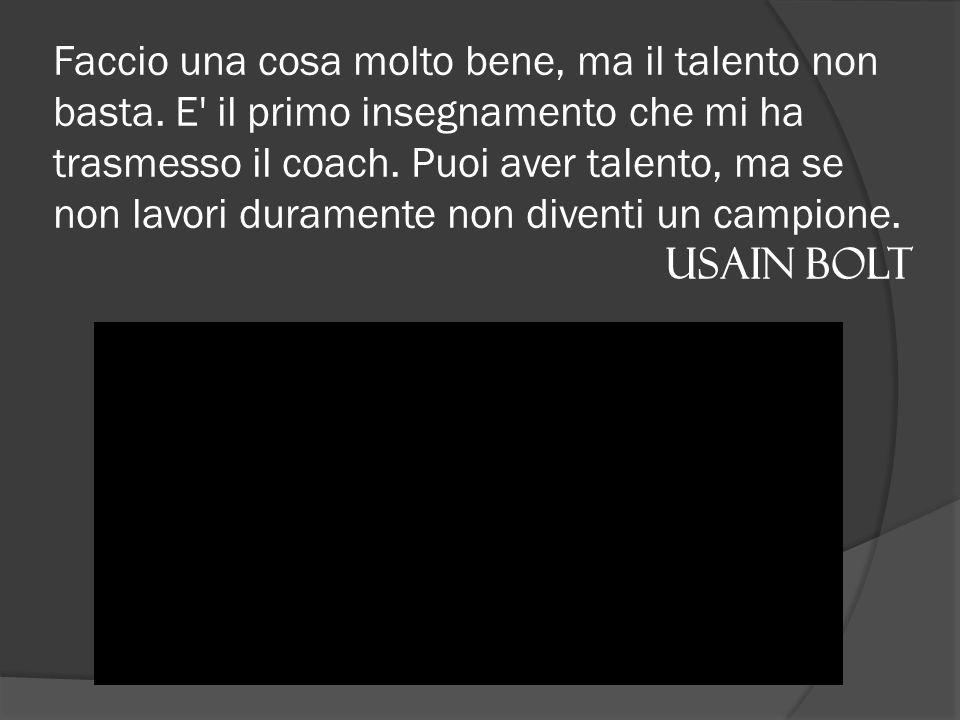 Vincere è sfruttare bene i talenti, perdere è capire quali talenti abbiamo e quali capacità dobbiamo ancora scoprire.