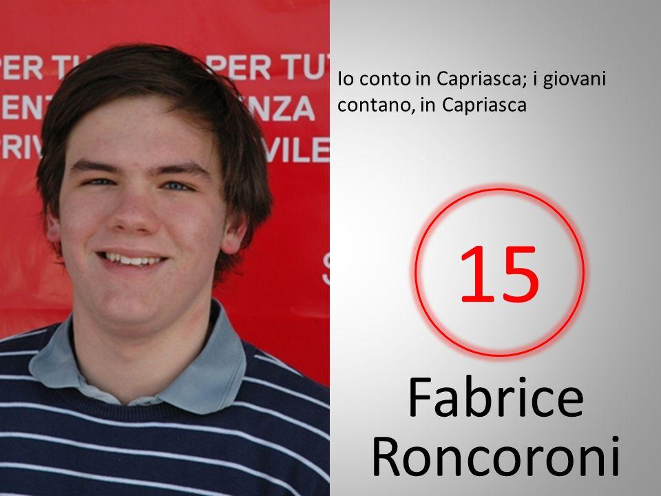 Fabrice Roncoroni Io conto in Capriasca; i giovani contano, in Capriasca 15