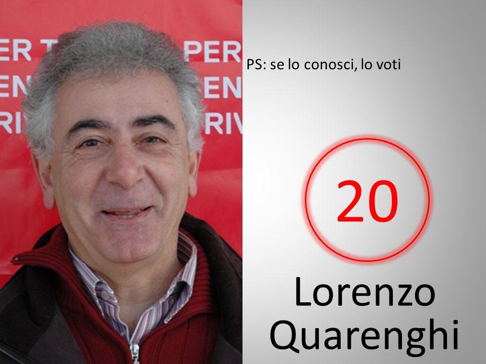 Lorenzo Quarenghi PS: se lo conosci, lo voti 20
