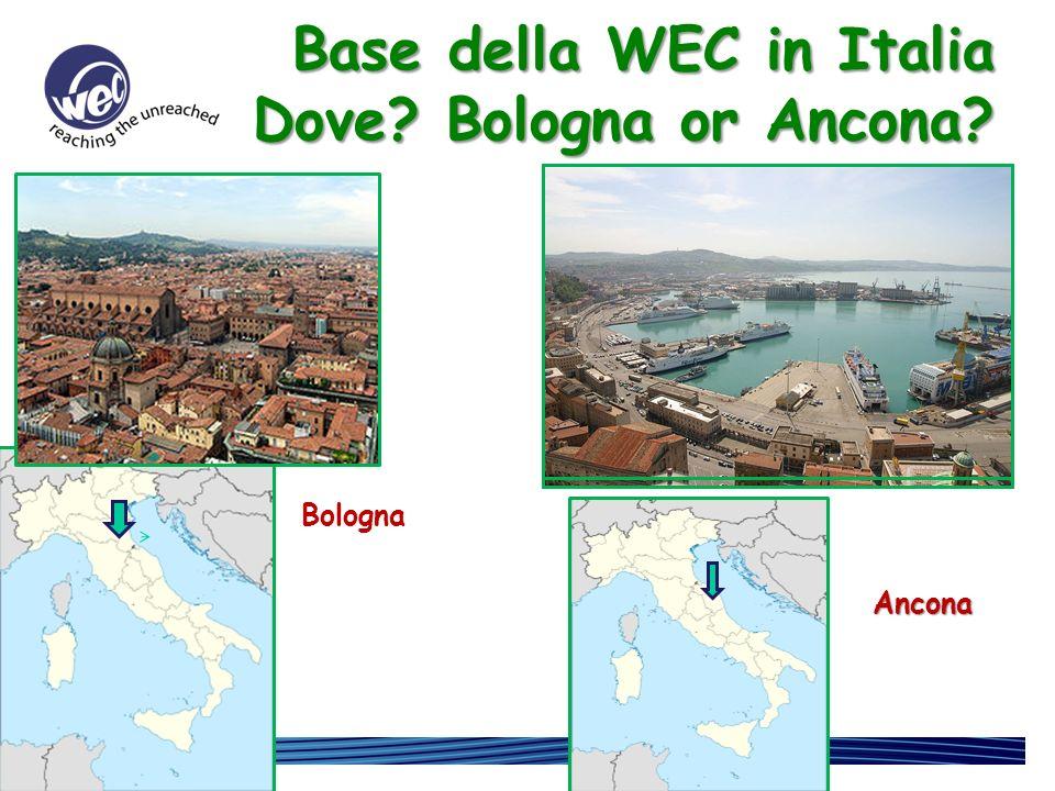 Perche aprire una base della WEC in Italia Per essere visibile. Per essere disponibile.