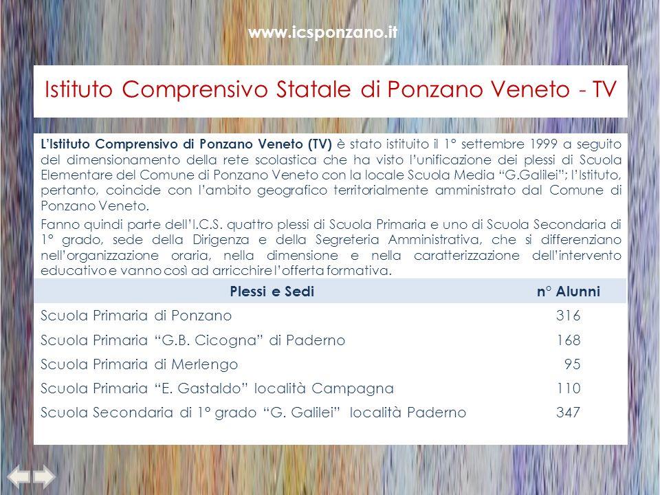 Istituto Comprensivo Statale di Ponzano Veneto - TV LIstituto Comprensivo di Ponzano Veneto (TV) è stato istituito il 1° settembre 1999 a seguito del