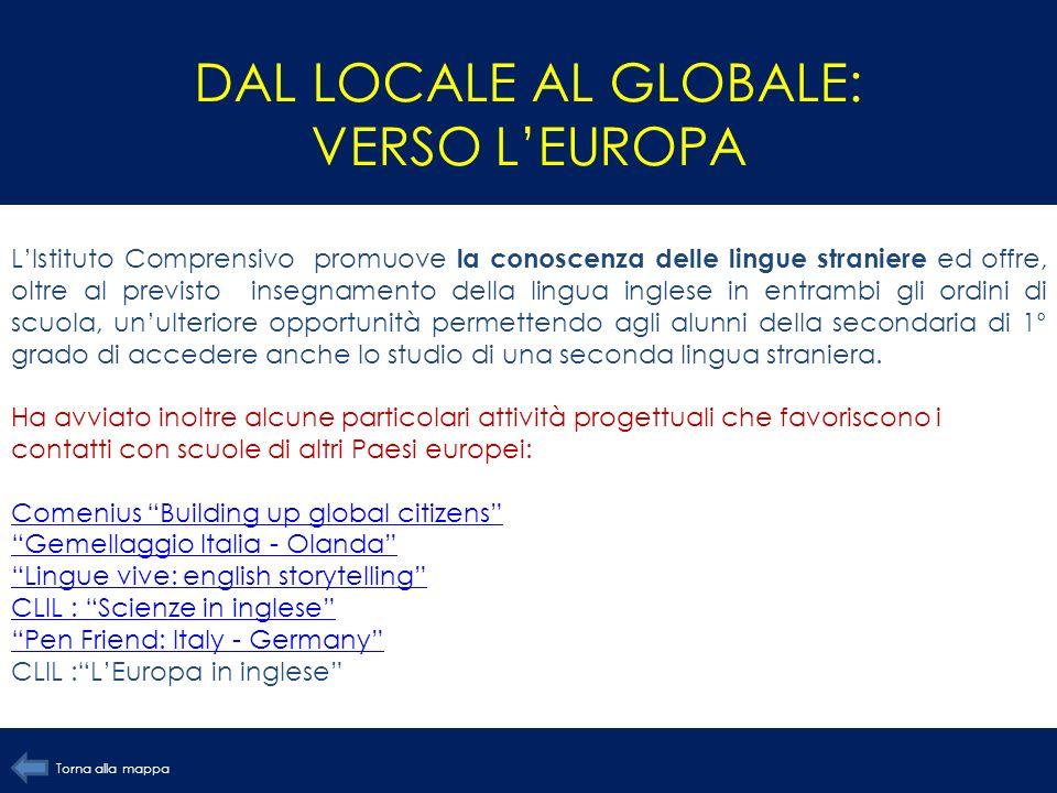 DAL LOCALE AL GLOBALE: VERSO LEUROPA LIstituto Comprensivo promuove la conoscenza delle lingue straniere ed offre, oltre al previsto insegnamento dell